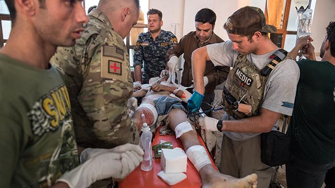 Mosul Medic Nik Frey leg