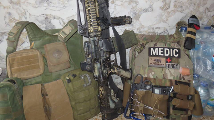 Mosul Medic Nik Frey vest