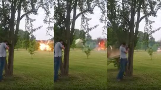 Shooting Exploding Fridge