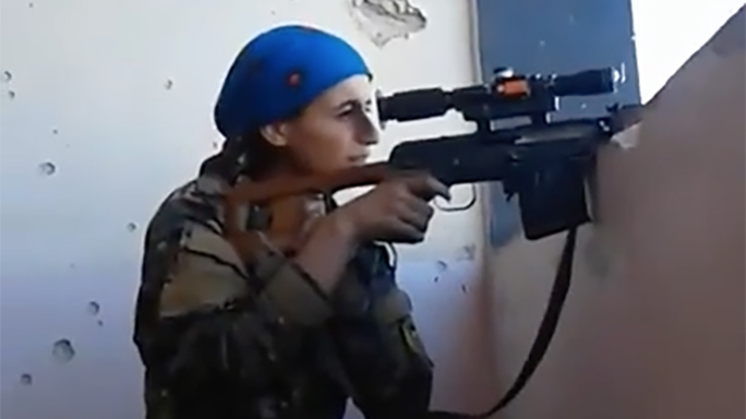 female kurdish sniper video