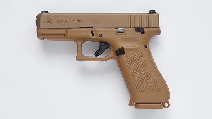 Glock 19 Pistol Army XM17 modular handgun system left