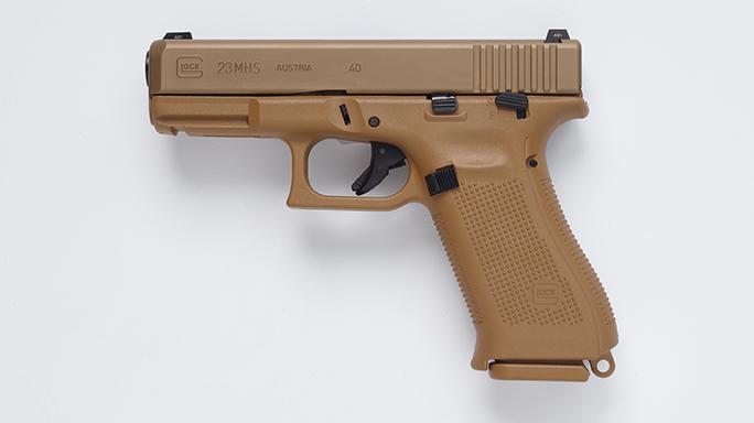 Glock 23 Pistol Army XM17 modular handgun system left
