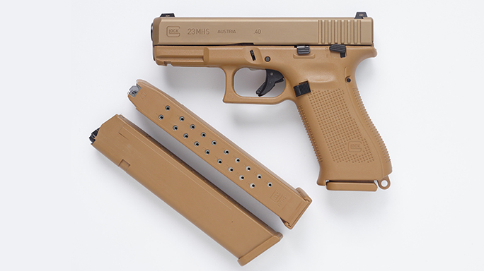 Glock 23 Pistol Army XM17 modular handgun system magazines