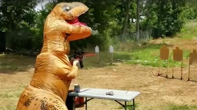 Janna Reeves T-Rex Shooting 3-gun