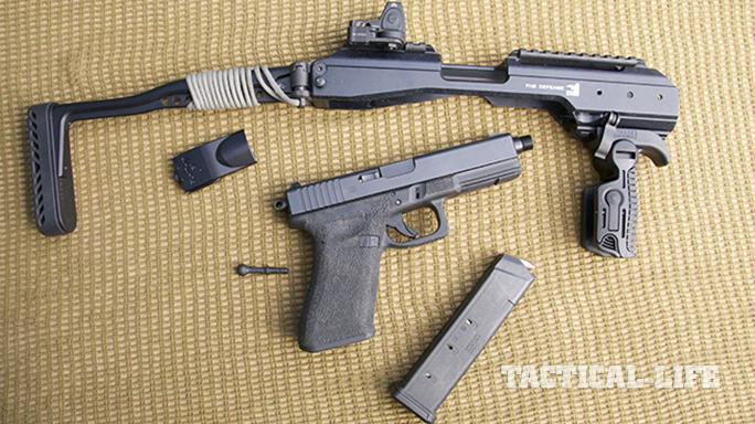 fab defense KPOS glock carbine disassembled