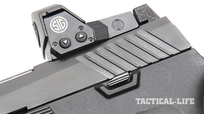 Sig Sauer P320 RX Full-Size pistol romeo1 optic controls
