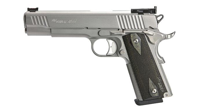 Sig 1911 Match Elite Stainless pistol left profile