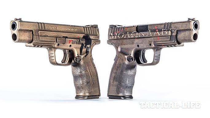 custom Springfield XD pistols outward angle