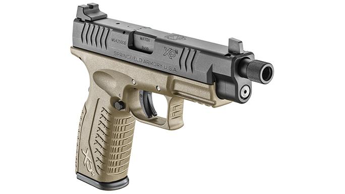 Springfield XDM 4.5 inch Threaded Barrel pistol right angle