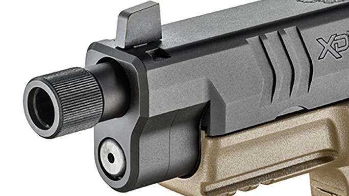 Springfield XDM 4.5 inch Threaded Barrel pistol front sight