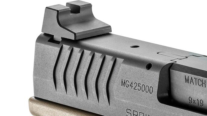 Springfield XDM 4.5 inch Threaded Barrel pistol rear sight