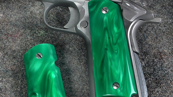 Eagle Kirinite Green Pearl aftermarket grips