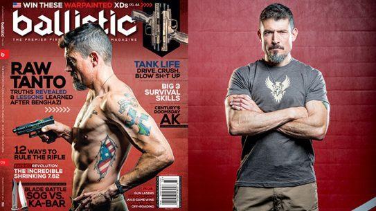 Kris Tanto Paronto Ballistic Magazine cover lead
