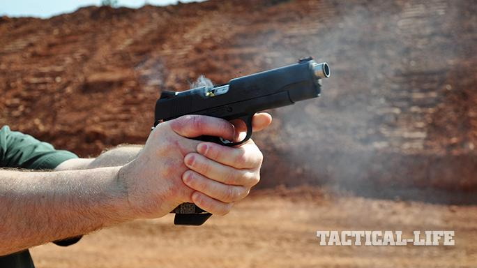 The Ed Brown Special Forces pistol smoking