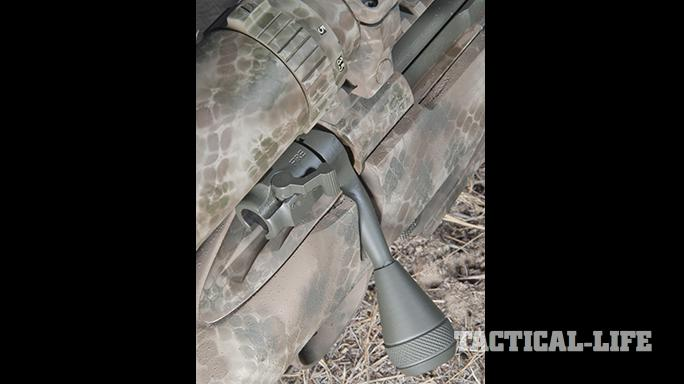Custom FN SPR A5M .308 Precision Rifle bolt knob rear