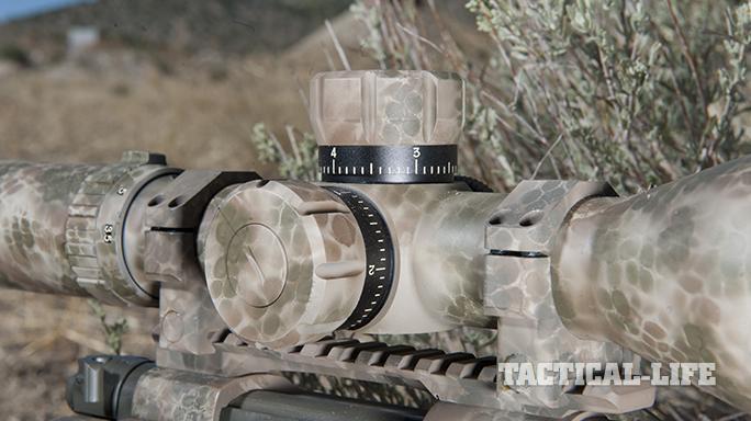 Custom FN SPR A5M .308 Precision Rifle scope knobs side
