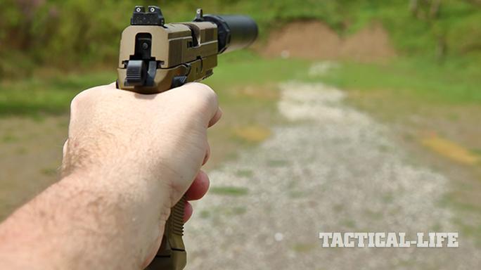 Sig P227 TACOPS and FNX-45 Tactical pistol sights
