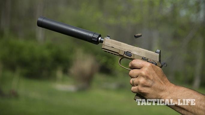 Sig P227 TACOPS and FNX-45 Tactical pistol firing