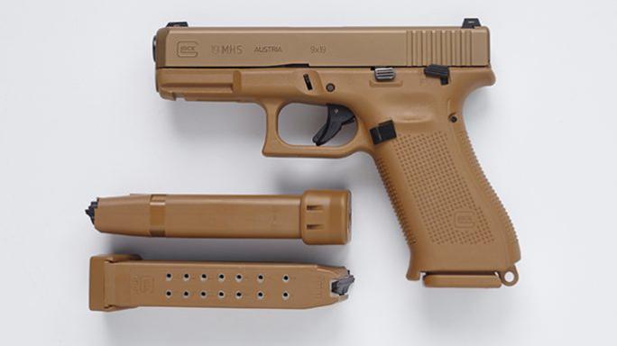 9mm Glock MHS pistol left profile