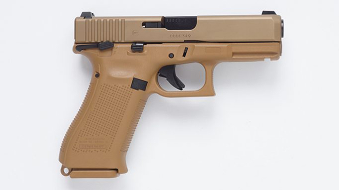 40 S&W Glock MHS pistol right profile
