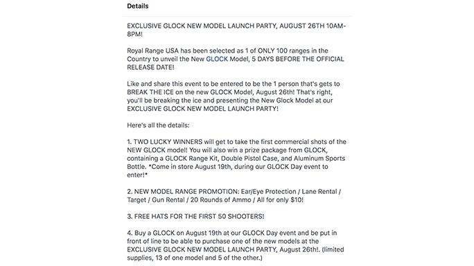 glock gen 5 event details