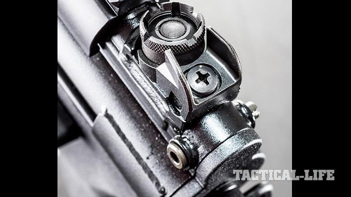 HK SP5K pistol rear sight