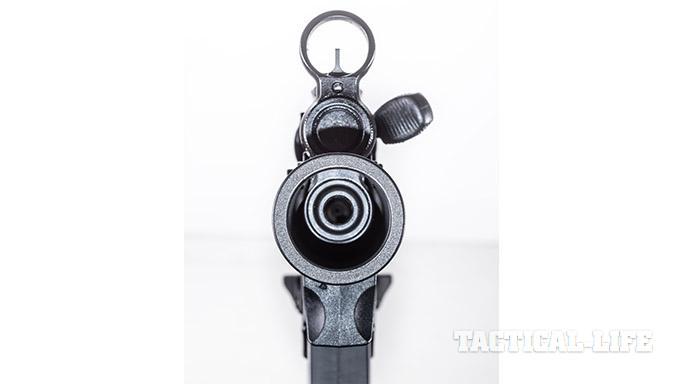 HK SP5K pistol front sight charging handle