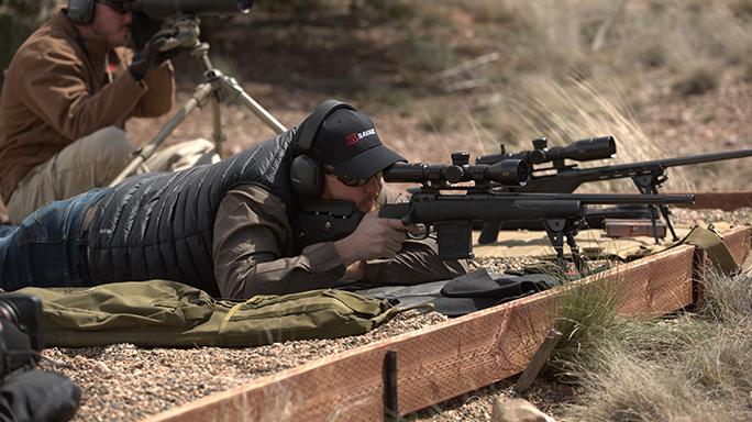 Savage Model 10 GRS shooting