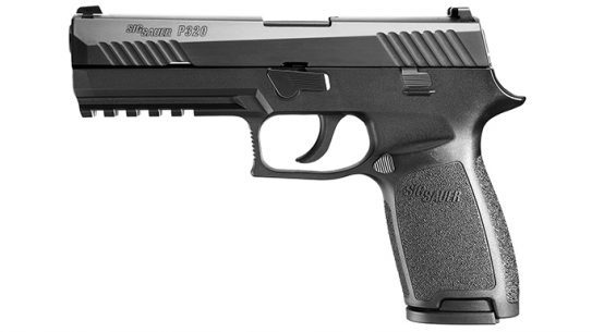 sig sauer p320 pistol left profile dallas pd