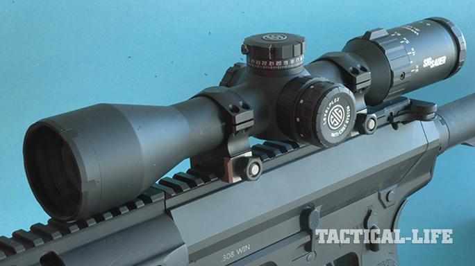 sig sauer whiskey5 riflescope mounted