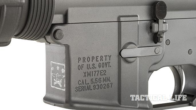 Troy XM177E2 rifle engraving