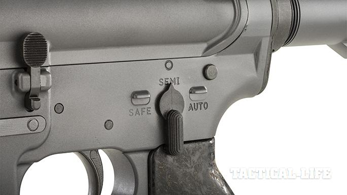 Troy XM177E2 rifle safety selector