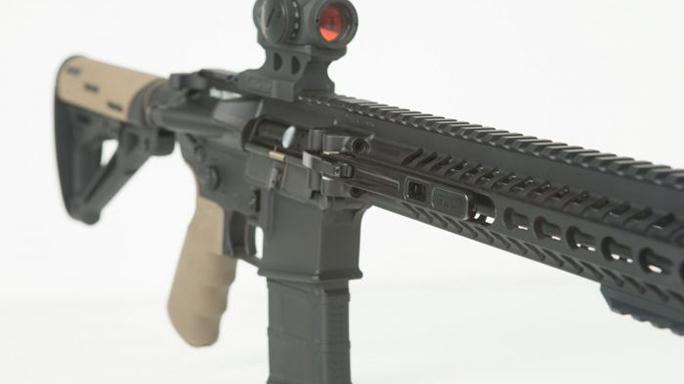 F&D Defense XAR Invicta rifle closeup angle