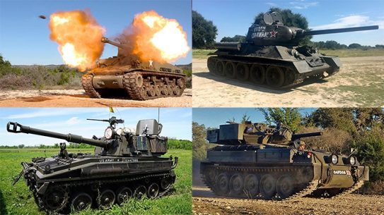 drivetanks guns and weapons