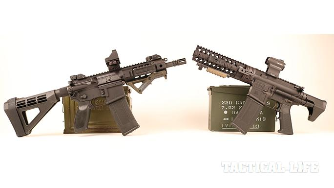 Sig Sauer pistols with SB Tactical braces