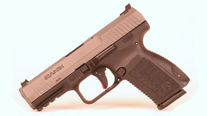 Police Handgun Sidearms Canik TP9 left