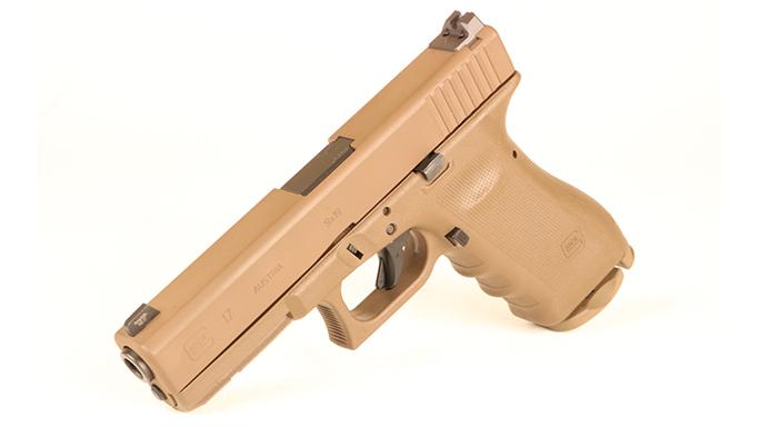 Police Handgun Sidearms Glock 17 left
