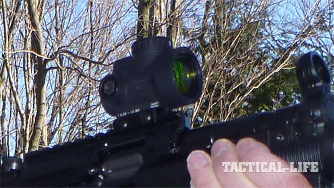 HK SP5K trijicon scope