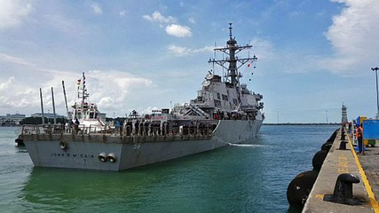 us navy ship john s mccain collision