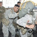 army paratroopers ABN-TAP fitting