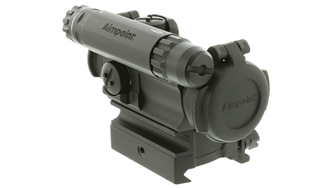 Aimpoint CompM5 with spacer and mount left angle