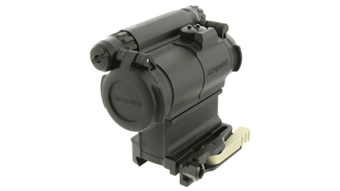 Aimpoint CompM5 with spacer and mount closed