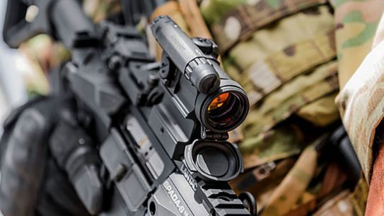 Aimpoint CompM5 aiming downward