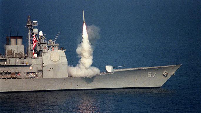 Combat Handgun Information Age Raytheon missile launch