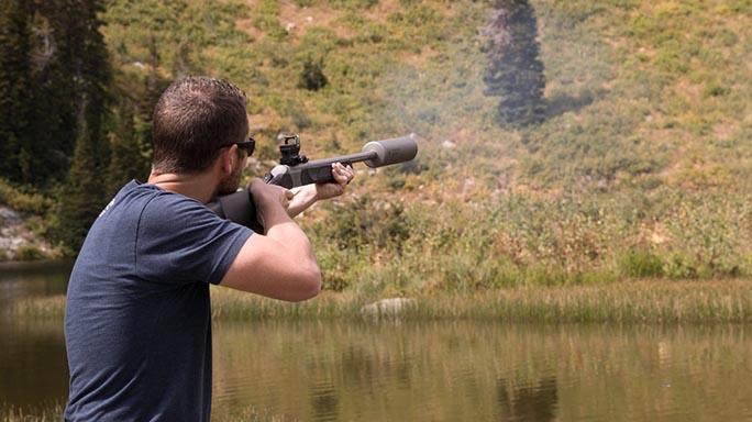 SilencerCo Maxim 50 Integrally Suppressed Muzzleloader shooting