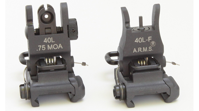 ARMS #40 L-F/#40 L Combo backup iron sights