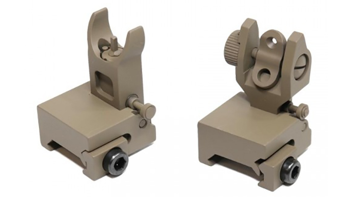 Guntec Thin Profile BUIS Sight Set backup iron sights