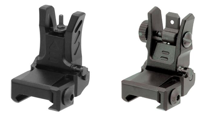 UTG Low-Profile Flip-Up Sights backup iron sights