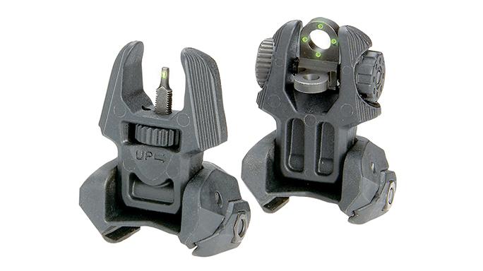 FAB Defense Tritium Flip-Up Sights backup iron sights