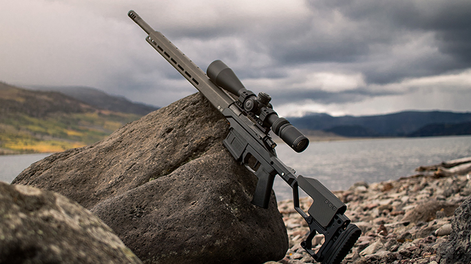 Christensen Arms Modern Precision Rifle on rock
